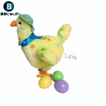 2 Style High Quality Funny Chicken Laying Egg Crazy Toy with Music Battery Powered Shaker Stuffed Animal Toy Kids Cute Gift