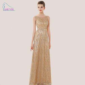 Sequin Blue Gold Formal Evening Gowns Plus Size Evening Dresses Long Sexy Party Prom Dresses Mother of Bride Robe De Soiree GQ91