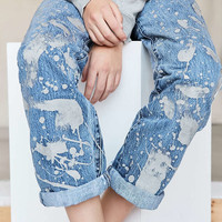 Vintage Levis Paint Splattered Jean - Metallic - Urban Outfitters