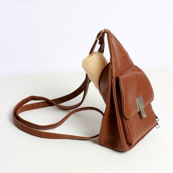 Brown Convertible Triangle Bag