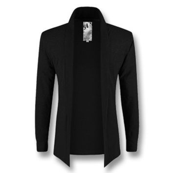 Men Cardigans Jackets Coats Men's Casual Slim Fit Long Sleeved Cardigans Jackets Clothing Outwear Coats BL