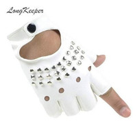 Ladies Finger-less Leather Gloves