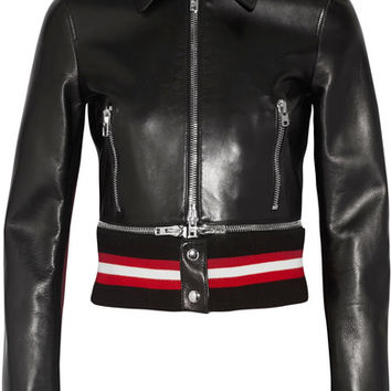 Givenchy - Cropped leather biker jacket