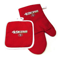 San Francisco 49ers NFL Oven Mitt and Pot Holder Set