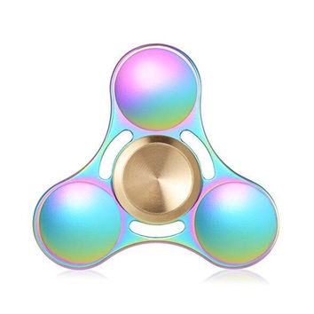 Fidget Spinner Toy Made of Titanium Alloy Ceramic Bearing 3+ Minutes Spinning Time High-Speed EDC Focus Toy for Killing Time Electroplated