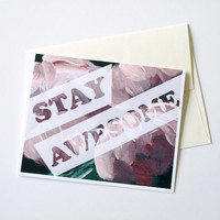 Blank card with envelope - You choose the art