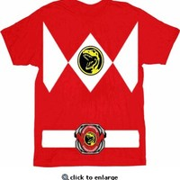 Power Rangers Red Ranger Costume Red T-Shirt Tee - Power Rangers - Free Shipping on orders over $60 | TV Store Online