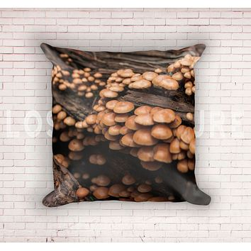 Woodland Mushrooms Throw Pillow Cover- 5 Sizes