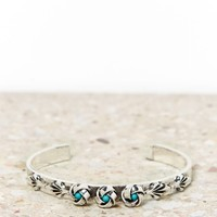 AEO Turquoise Rosette Cuff | American Eagle Outfitters