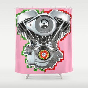 Portuguese Hot Pink Pan. Shower Curtain by Tony Silveira