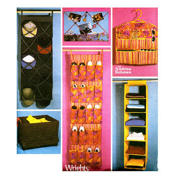 ROOM ORGANIZER PATTERN Shoe Hat Closet Laundry Room Home Decorating Clutter Organization Simplicity 5124 Schewe UNCuT Craft Sewing Patterns