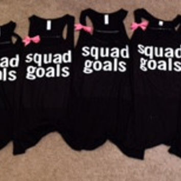 Squad Goals - Ruffles with Love - Racerback Tank - Womens Fitness - Workout Clothing - Workout Shirts with Sayings