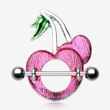 A Pair of Sweet Cherries Nipple Shield Ring