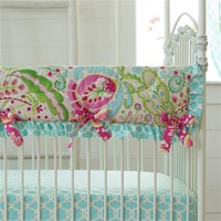 Kumari Garden Crib Rail Cover with Ruffle