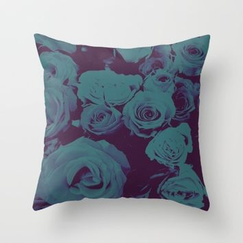 Mother May I -blue- Throw Pillow by Ducky B