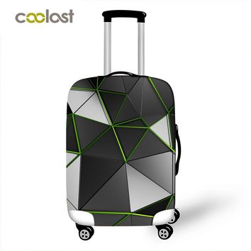 geometry Personalized luggage protector cover suitcases covers Waterproof luggage covers travel trolley case cover