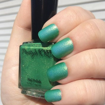 Blue/Green Thermal Nail Polish - Thermal Nail Lacquer - Blue Nail Polish - Green Nail Polish - Color Changing Nail Polish - Color Shifting