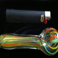 Rasta Lines Hand Blown Inside Out Glass Color by CaliforniaGlass