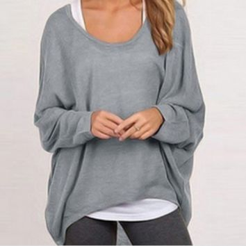 Oversize casual long sleeved sweater 02D160829_A