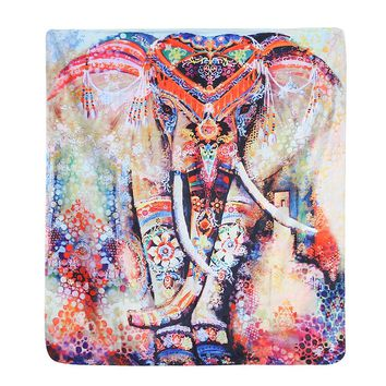 Elephant Tapestry Indian Mandala Tapestry Hippie Wall Hanging Tapestries Boho Bedspread Beach Towel Yoga Mat Blanket Table Cloth