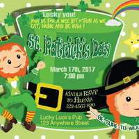 St. Patrick's Day Invitation, St.Patrick's Day Invite,Saint Patricks Day Invitation,Digital JPEG File, Instant download, free shipping