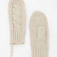 Cable-Knit String Mitten - Urban Outfitters