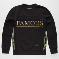 Famous Stars & Straps Flux Mens Sweatshirt Black  In Sizes