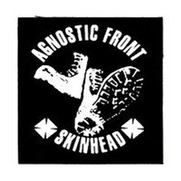 Agnostic Front Men's Skinhead Cloth Patch Black