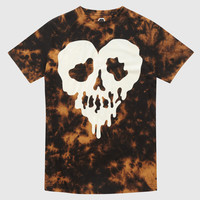 Skull Fucked Black Acid Wash T-shirt