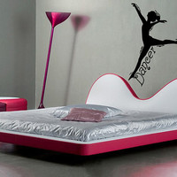 Dancer Girls Dance  Bedroom vinyl wall lettering home decor children  nursery decal sticker Sticky Studio