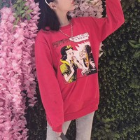 """Gucci"" Fashion Cartoon Snow White Pattern Print Long Sleeve Sweater Women Casual Pullover Tops"