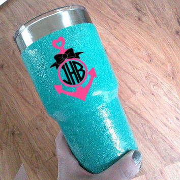 Ship Your Yeti Cup, Glitter Dipped Yeti, Custom glitter dipping
