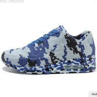 """NIKE"" Trending Fashion Personality Camouflage Casual Sports Shoes Blue"