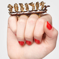 HI HO! Seven Dwarves Two Finger Ring