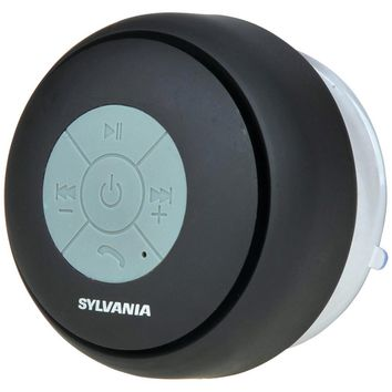 SYLVANIA(R) SP230-BLACK Bluetooth(R) Suction Cup Shower Speaker (Black)