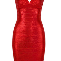 Song Bandage Dress Red
