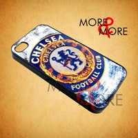 Chelsea FC Fire - iPhone 4/4s/5 Case - Samsung Galaxy S2/S3/S4 Case - Black or White