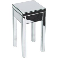 Avenue Six Mirrored Reflections End Table, Silver - Walmart.com