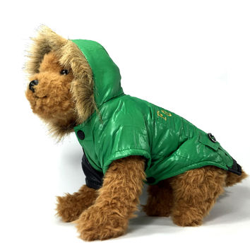 Green Water Resistant Dog Jacket