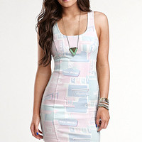 Kendall & Kylie Denim Bodycon Zip Back Dress at PacSun.com