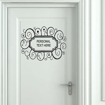 Wall Mural Vinyl Decal Sticker Sign Door Frame Personalized Text Name AL280