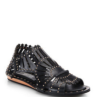 Belieze Studded Leather Cage Sandals