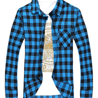 Mens Warm Plaid Shirt - In 5 Colors