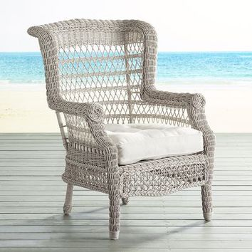 Sunset Pier Parchment Armchair