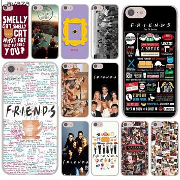 Lavaza Friends FUNNY TV show poster Hard Cover Case for Apple iPhone 8 7 6 6S Plus 5 5S SE 5C 4 4S X 10 Coque Shell