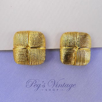 Vintage Gold Tone Shoe/Fur Clips, Vintage Fashion Accessory