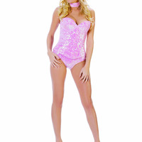 Starline Pink Sequin Bunny
