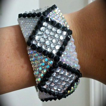 Handmade Multi-Layered Embellished Bangle