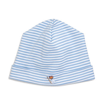 Sports Fan Striped Baby Hat, Blue, Size: