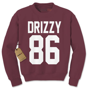 Crewneck Drizzy 86 Long Sleeve Team Canada Toronto Rap Sweatshirt #1236 by Expression Tees Trending Clothing / Apparel USA Seller
